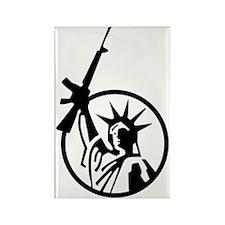 Lady Liberty AR-15 Rectangle Magnet