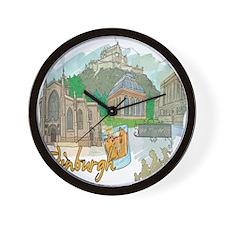 Edinburgh Scottland United Kingdom Wall Clock