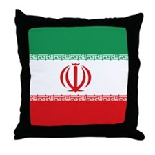 Jomhuri ye Eslami ye iran flag Throw Pillow
