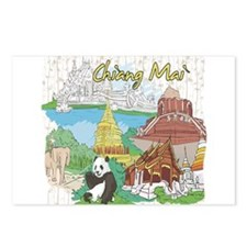 Chiang Mai Tailand Postcards (Package of 8)