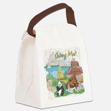 Chiang Mai Tailand Canvas Lunch Bag