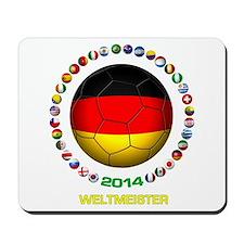 Deutschland Weltmeister 2014 Mousepad