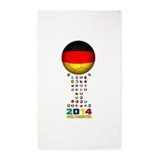 Deutschland Weltmeister 2014 3'x5' Area Rug
