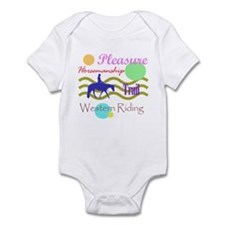 All around western in brights Onesie