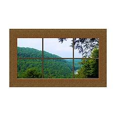 Fake Window Mural Mountain View Wall Sticker