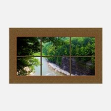 Fake Window Mural Gorge View Wall Decal