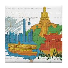 Hong Kong China Tile Coaster
