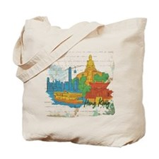Hong Kong China Tote Bag