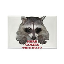 Here Comes Trouble Rectangle Magnet