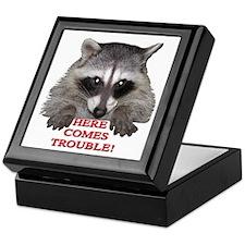 Here Comes Trouble Keepsake Box