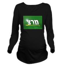 Meretz Party Logo Long Sleeve Maternity T-Shirt