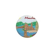 Manchester England Mini Button (10 pack)