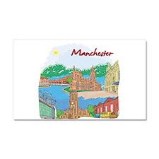 Manchester England Car Magnet 20 x 12