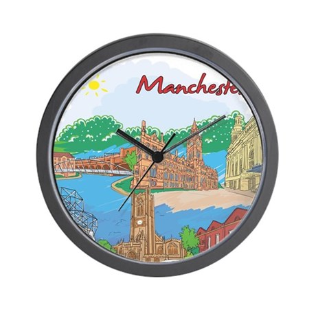 Manchester England Wall Clock By Worldcultures