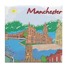 Manchester England Tile Coaster