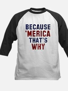 Because Merica Baseball Jersey