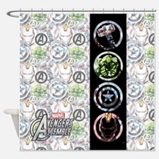 Avengers Circles Shower Curtain