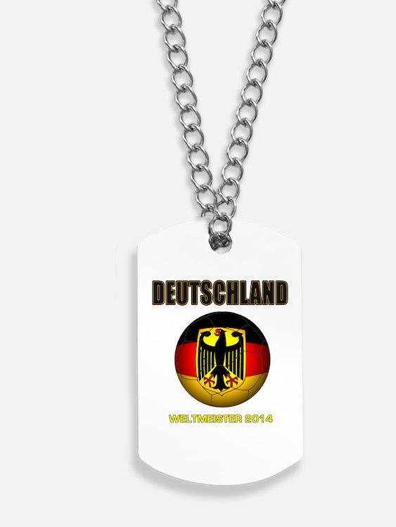 Deutschland Weltmeister 2014 Dog Tags