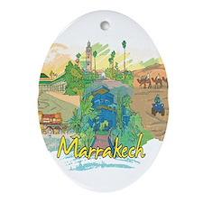 Marrakech Morocco Ornament (Oval)