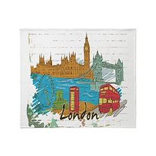 London England United Kingdom Throw Blanket