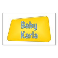 Baby Karla Rectangle Decal