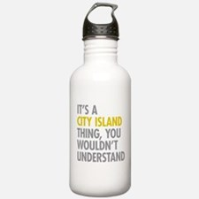 City Island Bronx NY T Water Bottle