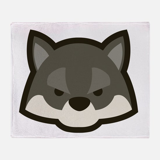 Cute Wolf Throw Blanket