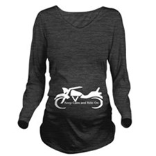 Keep Calm and Ride On - W Long Sleeve Maternity T-