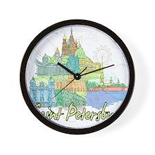 Saint Petersburg Russia Wall Clock