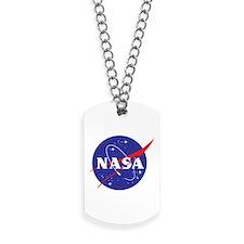 NASA Logo Transparant Dog Tags