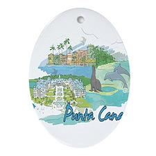 Punta Cana Dominican Republic Ornament (Oval)
