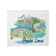 Punta Cana Dominican Republic Throw Blanket