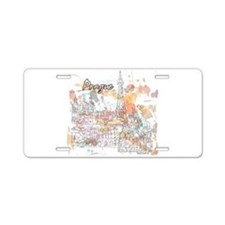 Prague Czech Republic Aluminum License Plate