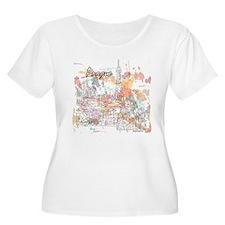 Prague Czech Republic Plus Size T-Shirt