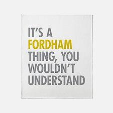 Fordham Bronx NY Thing Throw Blanket