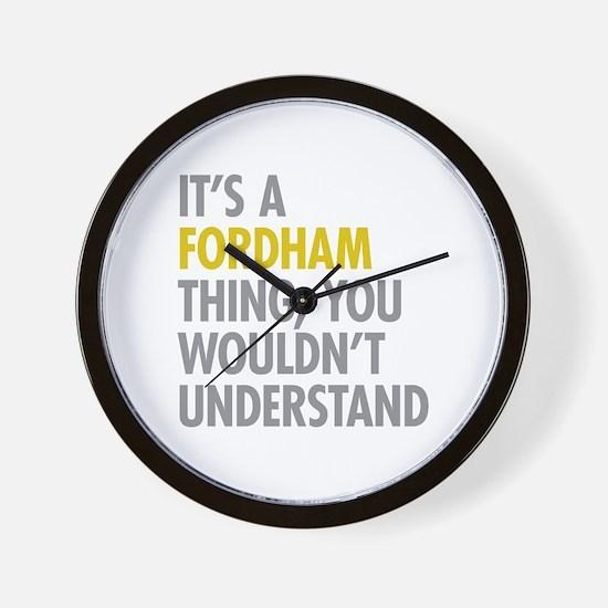 Fordham Bronx NY Thing Wall Clock