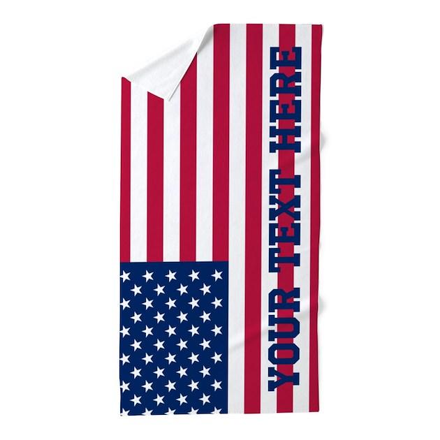 personalized american flag beach towel by flagfashion