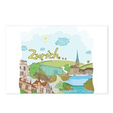 Zurich Switzerland Postcards (Package of 8)