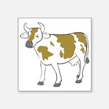 White And Brown Cow Sticker