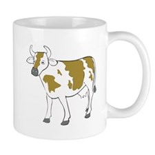 White And Brown Cow Mugs