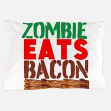 Zombie Eats Bacon Pillow Case