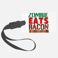 Zombie Eats Bacon Luggage Tag