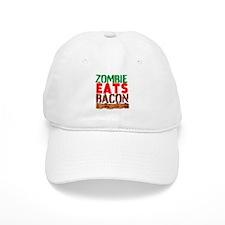 Zombie Eats Bacon Baseball Baseball Cap