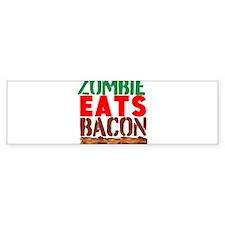 Zombie Eats Bacon Bumper Bumper Sticker