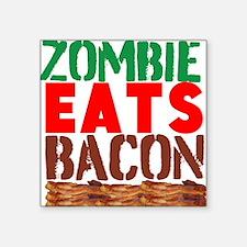 Zombie Eats Bacon Sticker