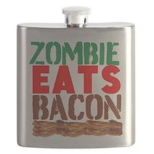 Zombie Eats Bacon Flask
