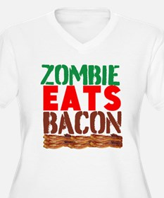 Zombie Eats Bacon Plus Size T-Shirt