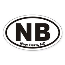 Nb New Bern, Nc Oval Decal