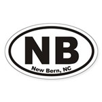 Nb New Bern, Nc Oval Sticker