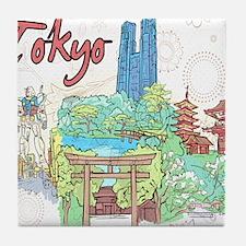 Tokyo Japan Tile Coaster
